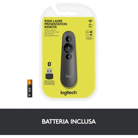 Logitech R500 Wireless Presentation Remote-Graphite