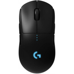 Logitech G PRO Wireless Gaming Mouse, HERO 16K Sensor, 16,000 DPI, RGB, Ultra Lightweight, 4 to 8 Programmable Buttons, Long Battery Life, On-Board Memory, Built for esport, PC / Mac - Black