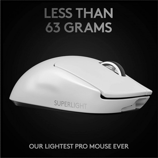 Logitech G PRO X SUPERLIGHT Wireless Gaming Mouse - High Speed, Lightweight Gaming Mouse Compatible with PC and Mac (USB port) - White