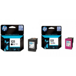 HP 121 2-pack Black/Tri-color Original Ink Cartridges (CN637HE)