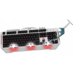 ASUS LED BACKLIT USB GAMING KEYBOARD CERBERUS ARCTIC EDITION
