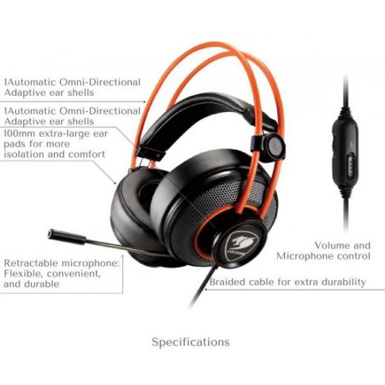 Cougar Inmersa Gaming Headset - Black/Orange