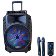 INTEX TROLLEY 15 WITH BUILT IN BATTERY/2 W/lMIC/SD/USB/FM