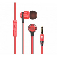 JBL Wired Earphone with Microphone , Red