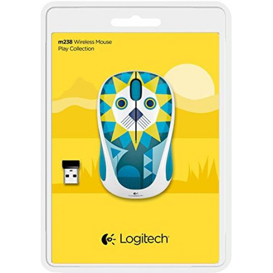 Logitech M238 Play Collection - Lion Wireless Mouse - Multi Color