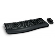 Microsoft Wireless Comfort Desktop 5050 Keyboard and Mouse - Black