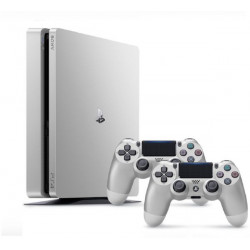 Sony PlayStation 4 Slim - 500GB, 2 Controllers (Silver)