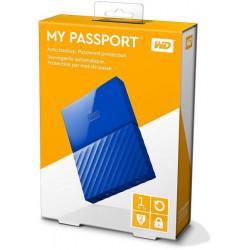 Western Digital 1TB My Passport  Portable External Hard Drive USB 3.0 (Blue)
