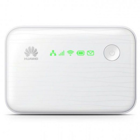 Huawei 3G Pocket Router and Power Bank (Unlocked, 5200mAh, 3G to Wi-Fi, LAN to Wi-Fi, 3G to LAN)