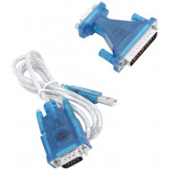 1.5 Meter USB to Serial and Parallel Cable