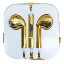 1M EarBud Headphone Hands-free Earphone With Remote Mic Fr Apple iPhone iPod HTC MP3 MP4 Golden