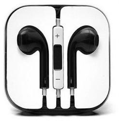 Earphone Earbud Headset Headphone with Mic for Apple iPhone 6 6s 5 5s iPod ( Black)