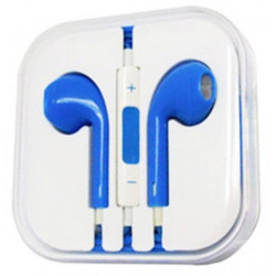 Earphones Headphones With Remote Mic Volume Controls For Apple ( Blue )